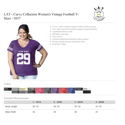 Curvy Ladies Football Shirt-LAT Brand