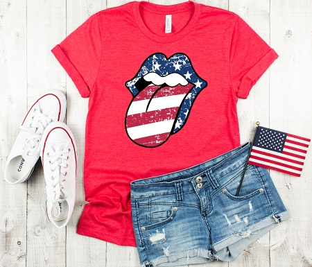 Tongue-American Stripes
