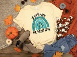 In September we wear Teal-Ovarian Cancer