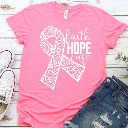 Faith Hope Cure-leopard