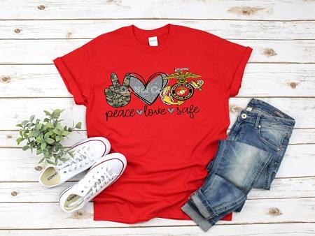 Marines-Peace Love Safe
