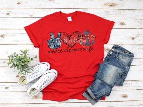 Navy -Peace Love Safe