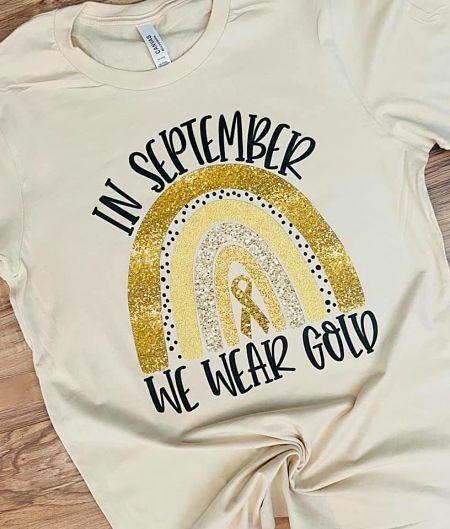 In September we wear Gold-Childhood Cancer