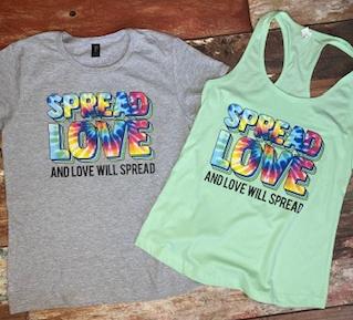 Spread Love-Tie Dye