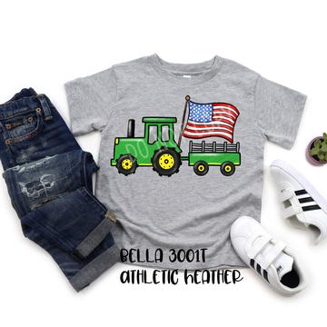 Tractor with Flag-Kids